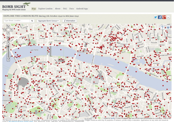 Bomb sight - Mapping the WW2 bomb census