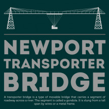 Boring to Beautiful: Newport Transporter Bridge Infographic