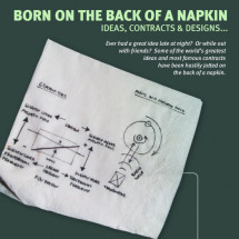 Born on the Back of a Napkin Infographic