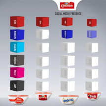 Brand social media comparison Infographic