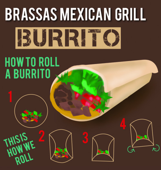 Brassas Mexican Grill: How to Roll A Burrito