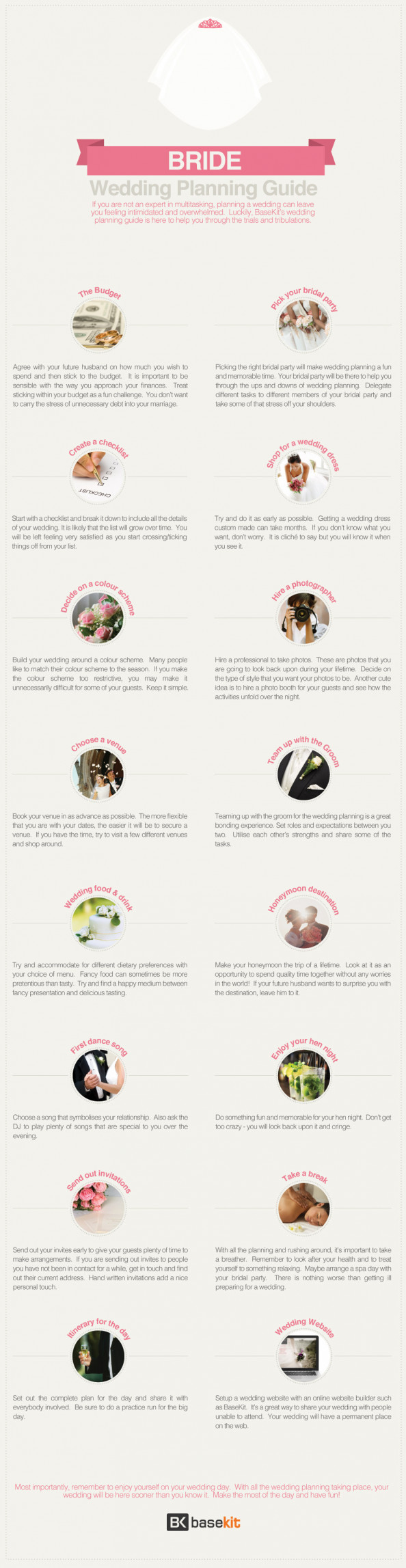 Bride&#039;s Guide To Wedding Planning Infographic
