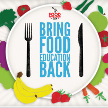 Bring Food Education Back Infographic