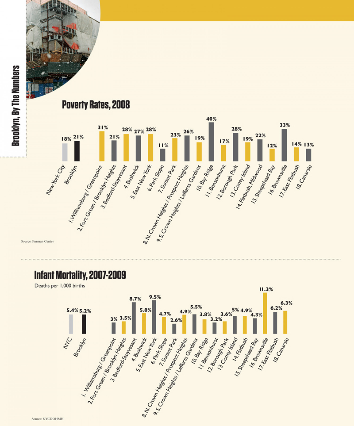 Brooklyn, New York Poverty Rates, Infant Mortality Infographic