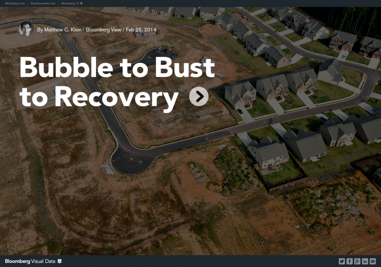Bubble to Bust to Recovery Infographic