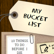 Bucket List Infographic