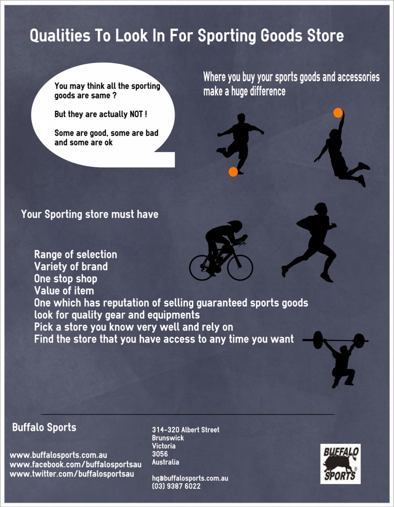 Buffalo Sports   Qualities To Look In For Sporting Goods Store   Infographic