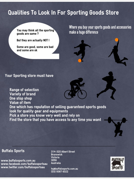 Buffalo Sports | Qualities To Look In For Sporting Goods Store   Infographic