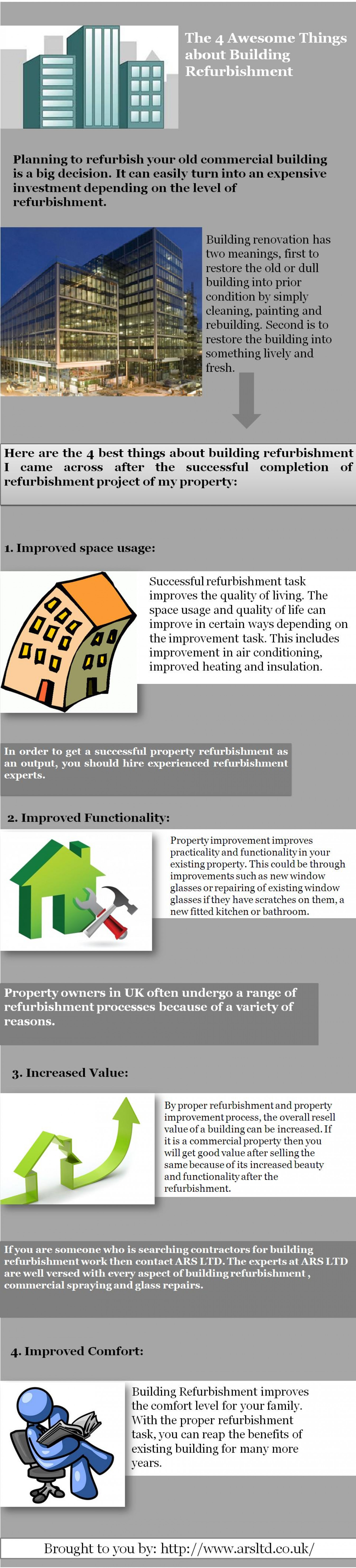 The 4 Awesome Things About Building Refurbishment Infographic