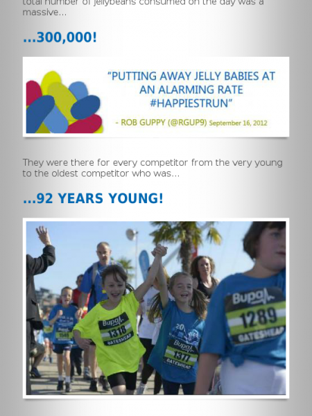 Bupa Great North Run 2012 Infographic