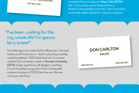 Business Cards Go To Hollywood Infographic
