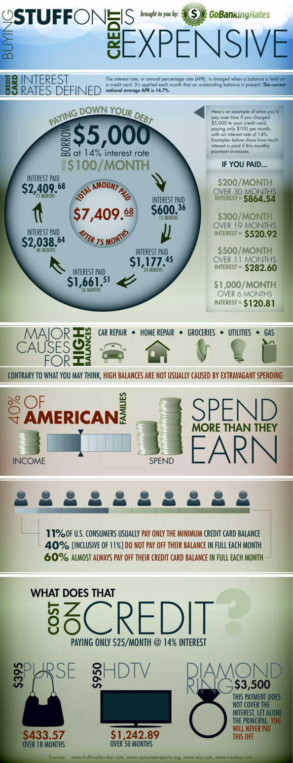 Buying Stuff on Credit is Expensive  Infographic
