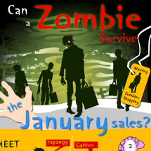 Can a zombie survive the January sales? Infographic