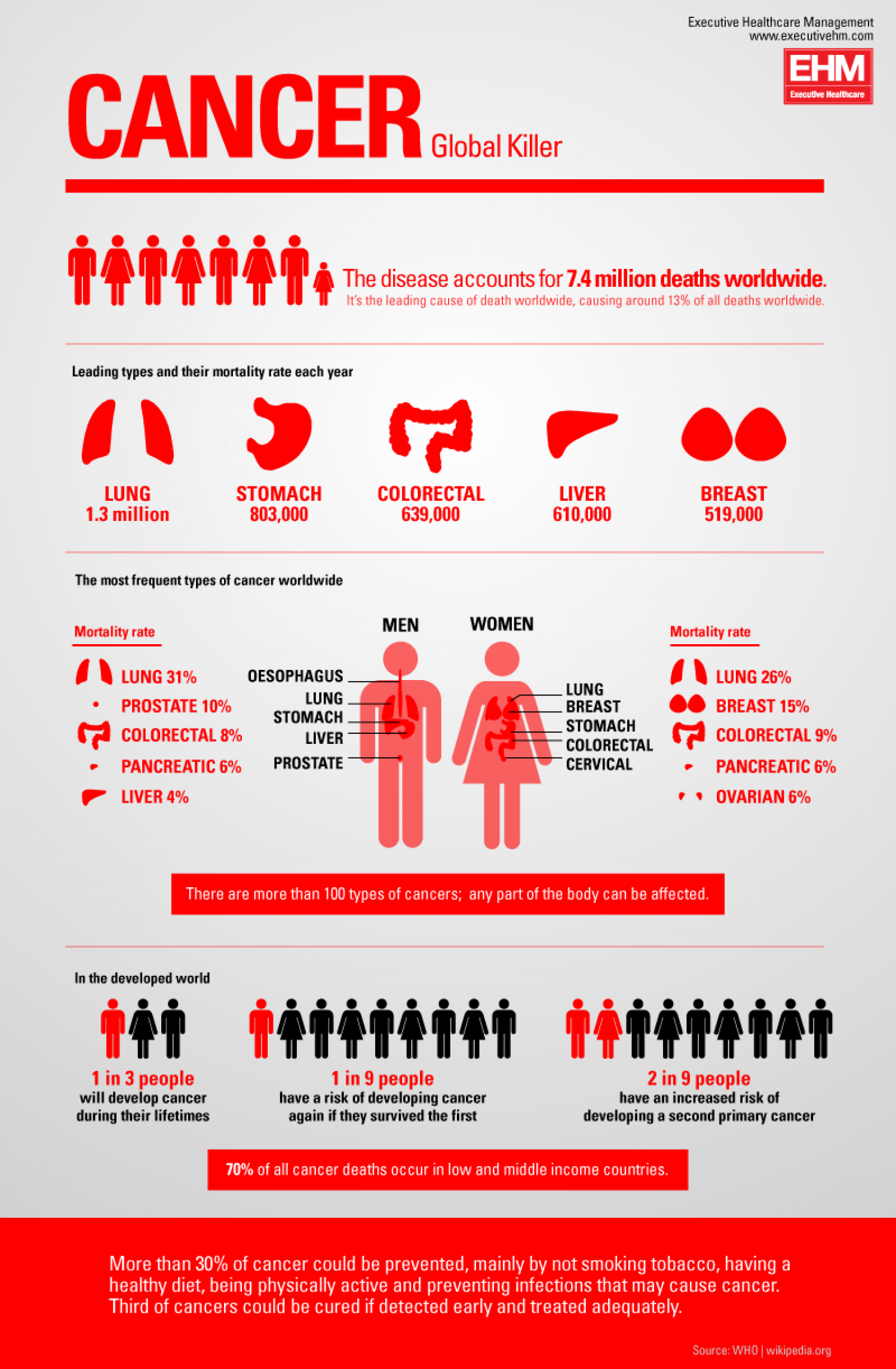 Cancer: Global Killer Infographic