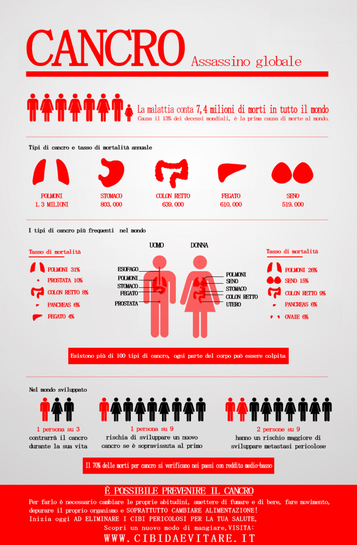 Cancro assassino globale Infographic