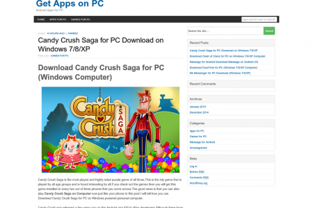 Candy Crush Saga for PC Infographic