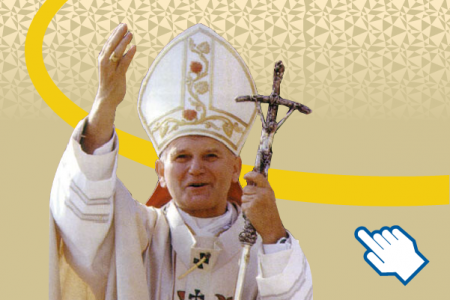 Canonization of pope John Paul II. Infographic