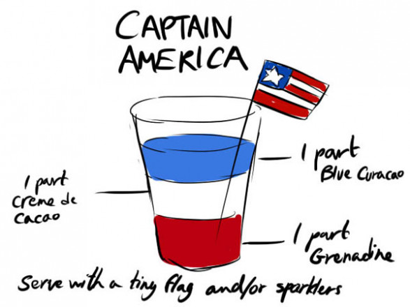 Captain America Cocktail