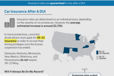 Car Insurance After a DUI: Everything you Need to Know Infographic