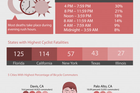 Car on Bike Violence Infographic