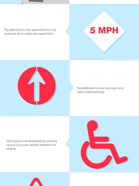 Car Parking Etiquette Infographic