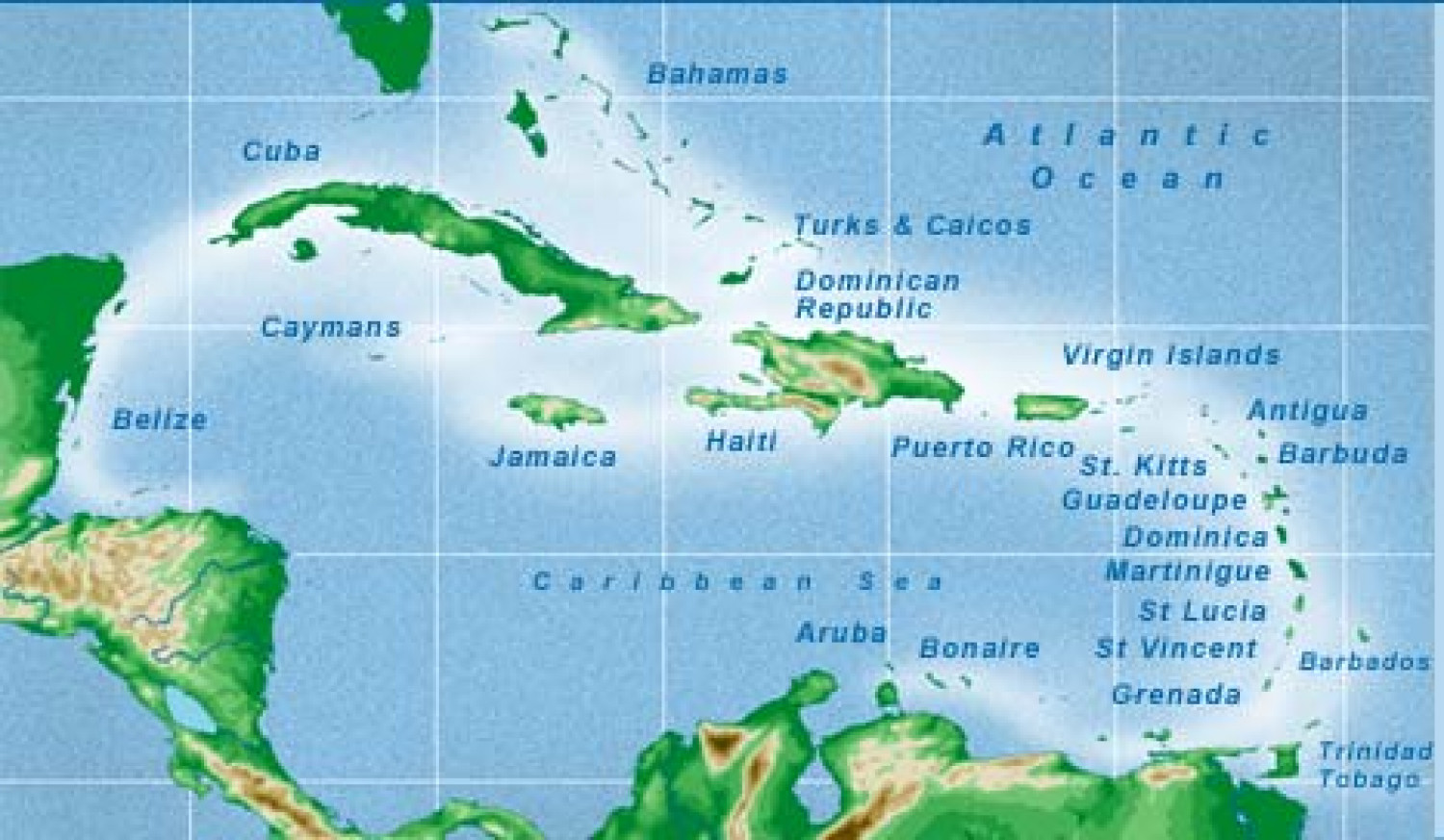 Island: caribbean islands map