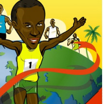Caribbean Superstars: Usain Bolt Infographic
