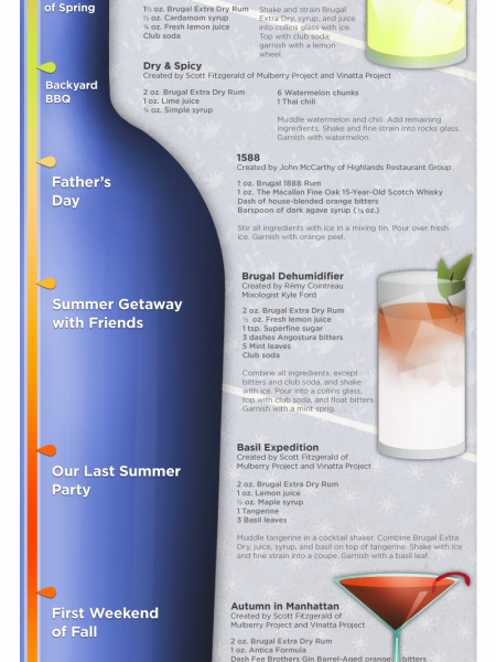 """Celebrate a Rum for All Seasons""  Infographic"