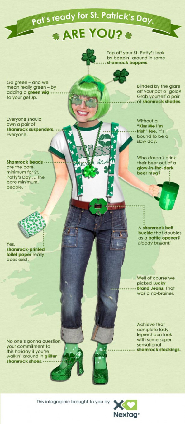 Celebrate St. Patrick's Day with Nextag! Infographic