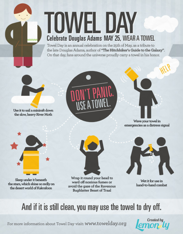 Celebrate Towel Day - May 25 Infographic