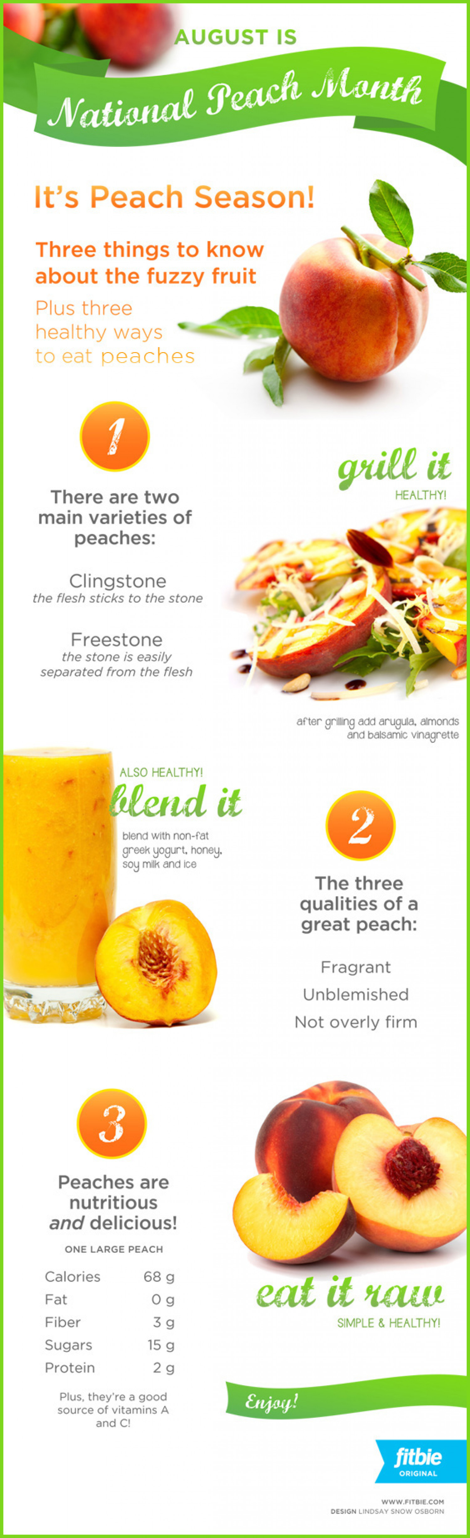 Celebrating National Peach Month Infographic
