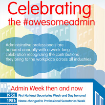 Celebrating the #awesomeadmin Infographic