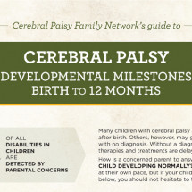 Cerebral Palsy - Development Milestones Infographic