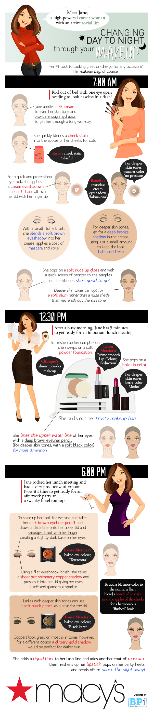 changing from day to night through your makeup 52ded8ae02a1b Day to Evening: Eyeliner, Lipstick and a Martini