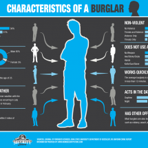 Characteristics of a Burglar  Infographic