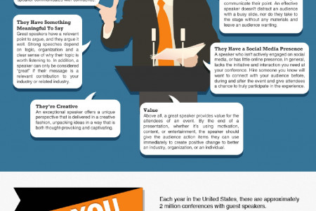 Characteristics of a Great Speaker Infographic