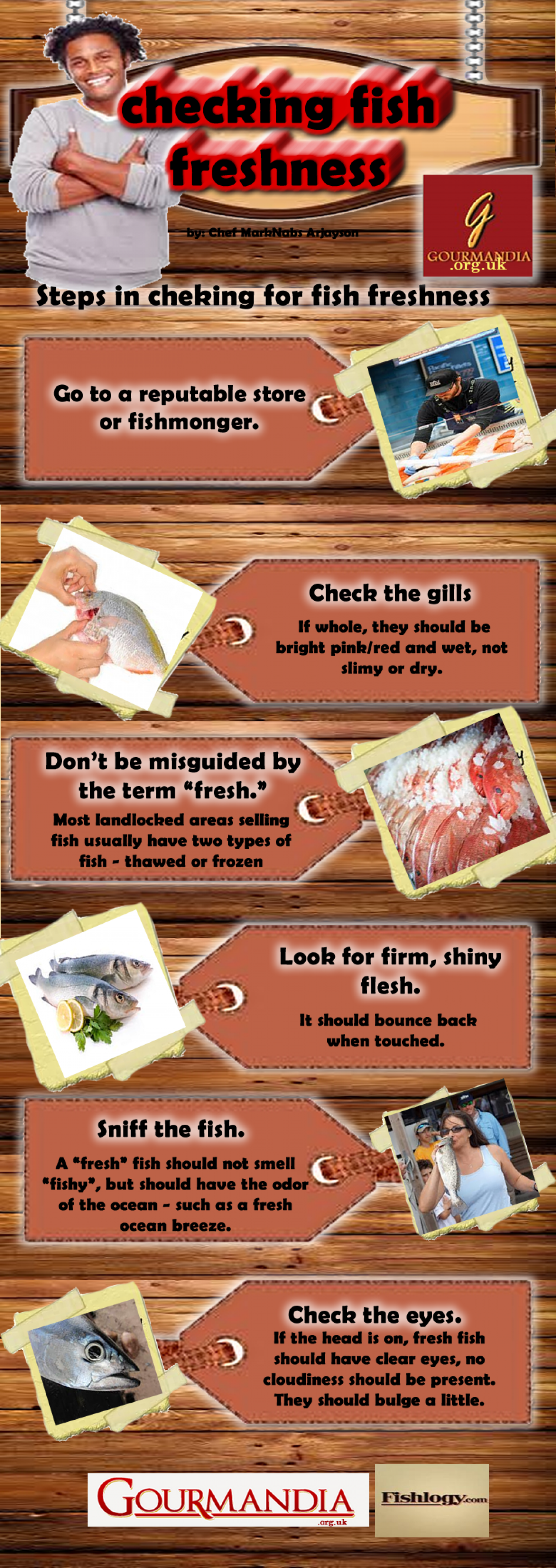 Checking Fish Freshness Infographic