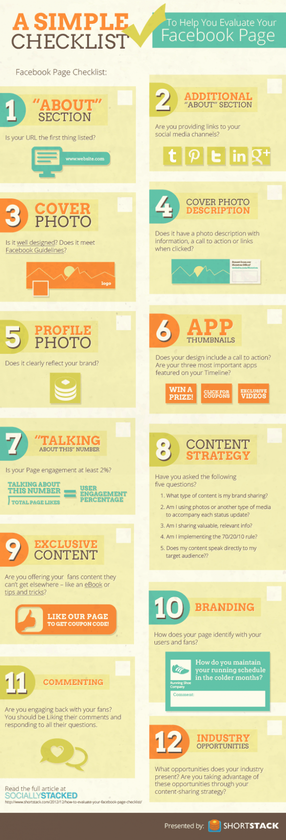 Checklist to help you Evaluate your Facebook Page