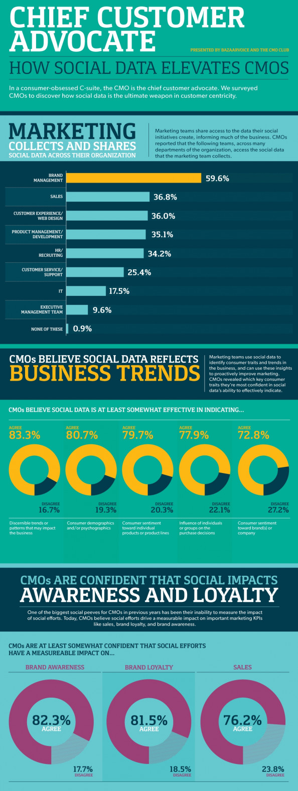 Chief customer advocate: How social data elevates CMOs Infographic