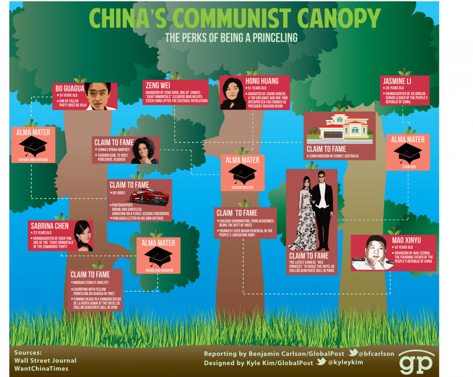China&#039;s Communist Canopy Infographic