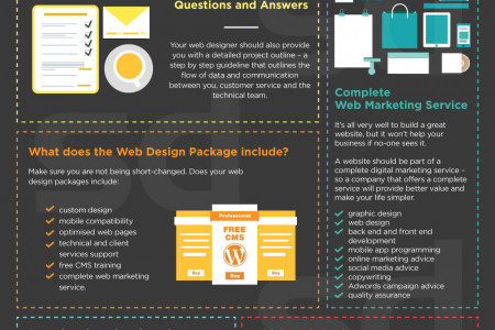 Choosing a Web Design Company - What to Look For Infographic