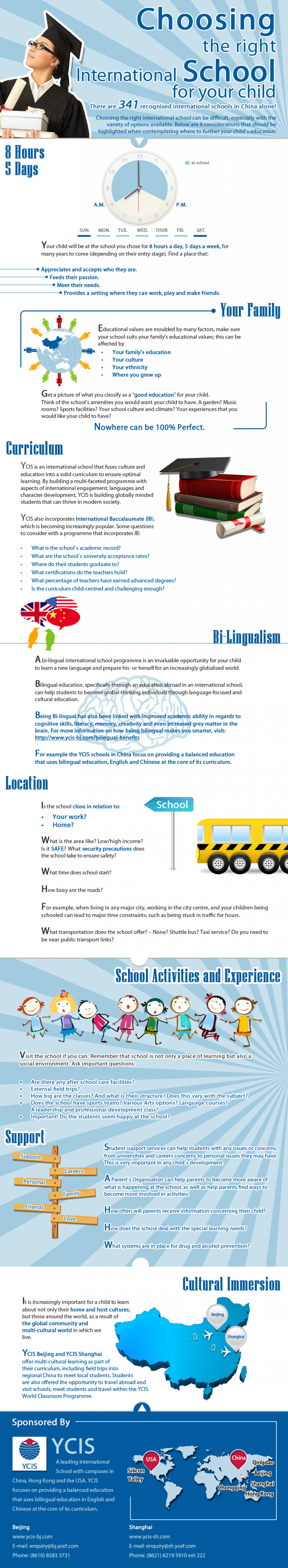 Choosing the right international school for your child Infographic