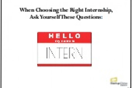 Choosing the Right Internship Infographic