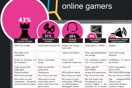 Classification  of online gamers Infographic