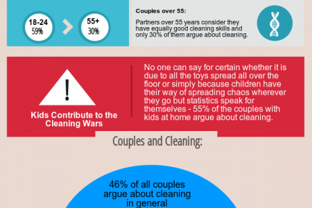 Cleaning Wars: Who Cleans More Infographic