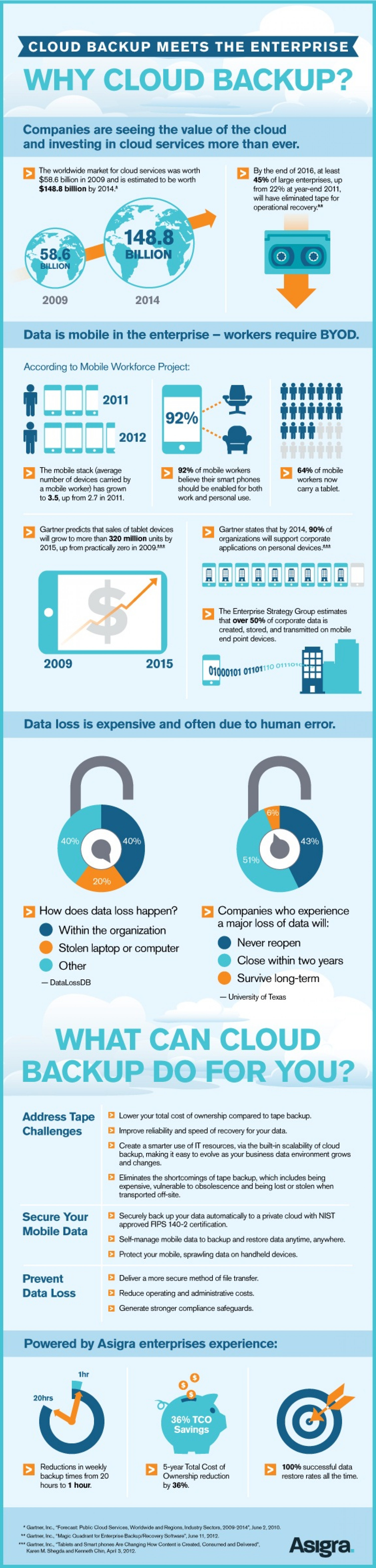 Cloud Backup Meets the Enterprise Infographic