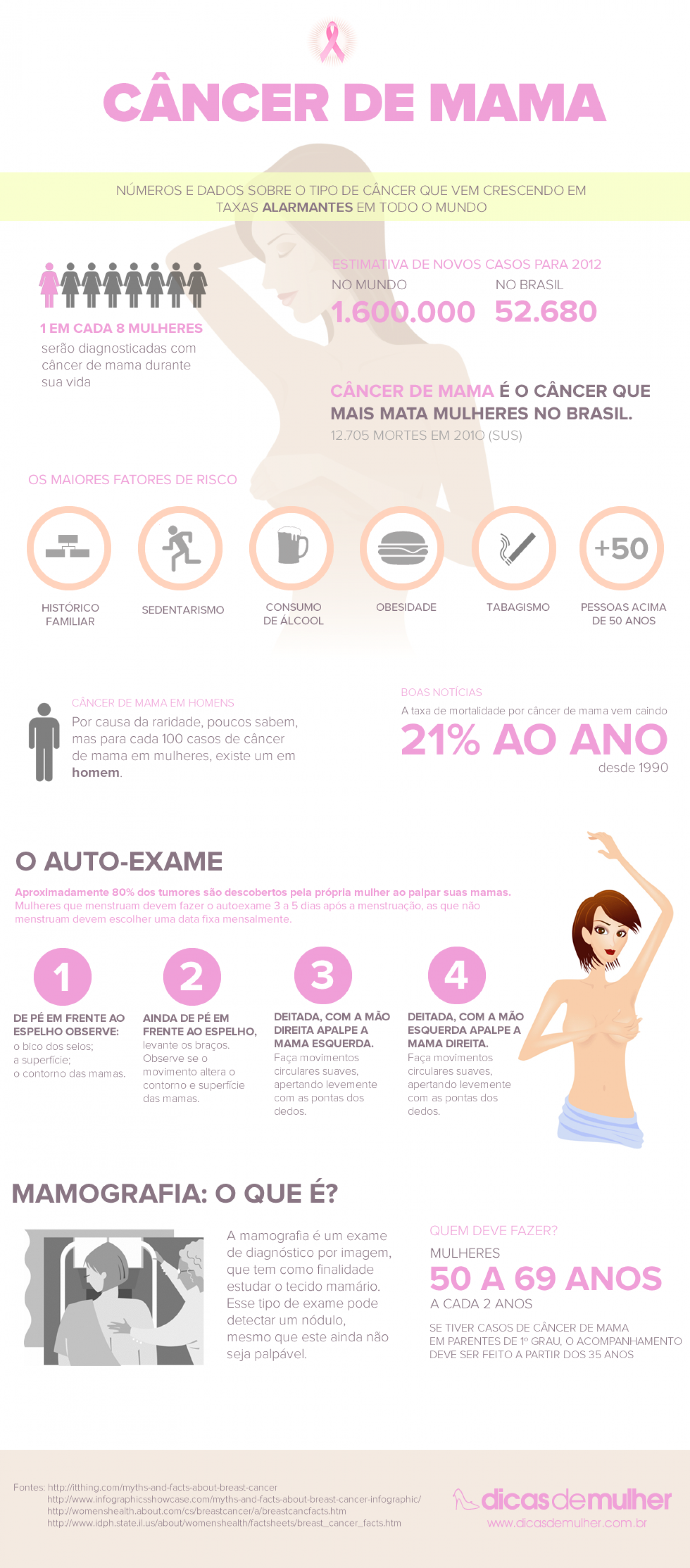 Câncer de Mama (Breast Cancer) Infographic