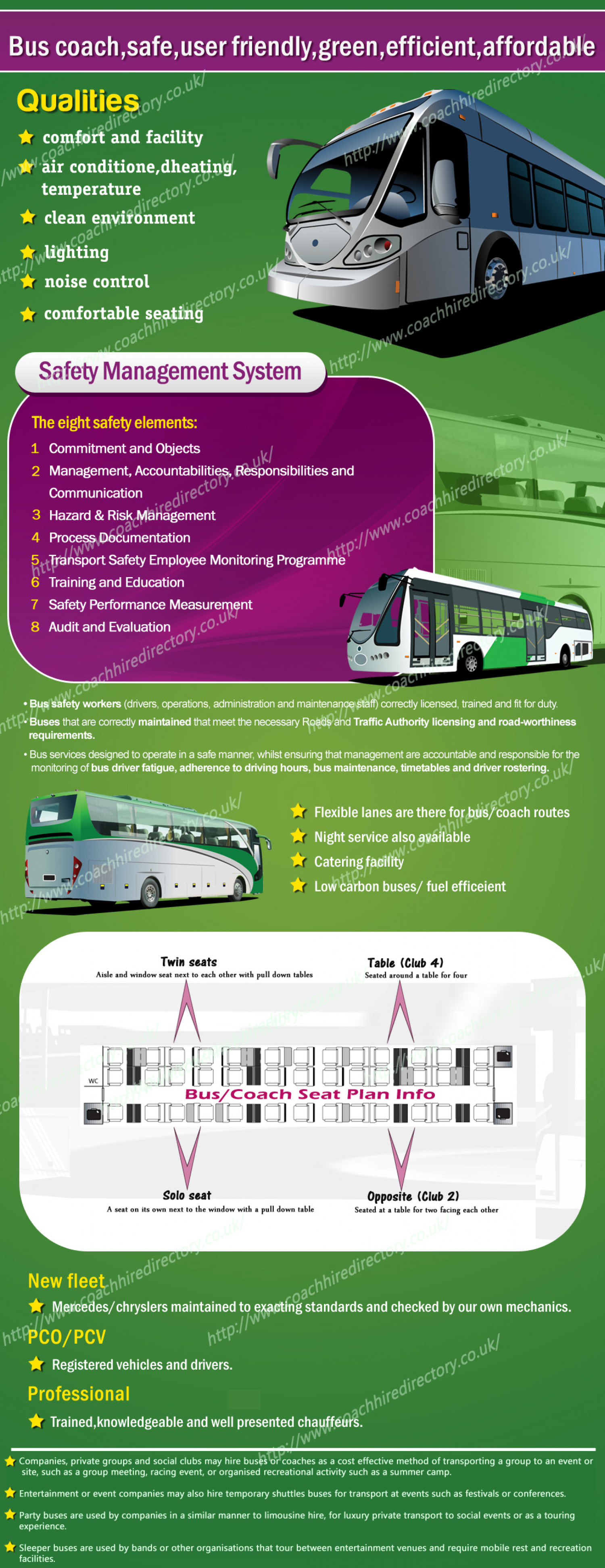 coach hire|bus hire Infographic