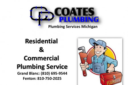 Coates Plumbing ► Michigan Plumbers for Home and Commercial Needs Infographic