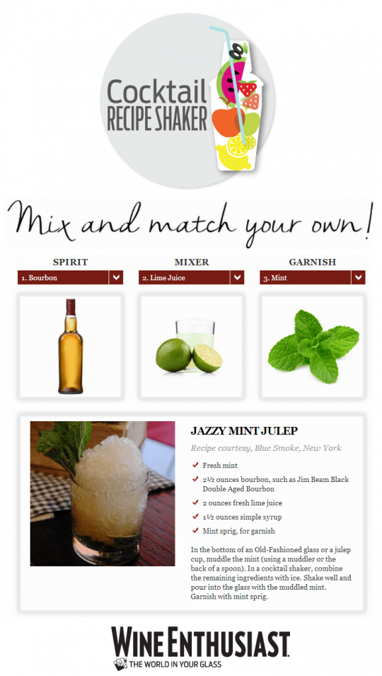 Cocktail Recipe Shaker - Mixed Drink Idea Generator